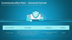 Organizational Network Security Awareness Staff Learning Communication Plan General Format Infographics PDF
