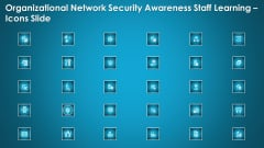 Organizational Network Security Awareness Staff Learning Icons Slide Ppt Designs Download PDF