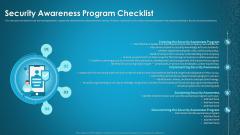 Organizational Network Staff Learning Security Awareness Program Checklist Background PDF