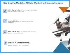 Organizational Performance Marketing Our Costing Model Of Affiliate Marketing Business Proposal Download PDF