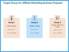 Organizational Performance Marketing Target Group For Affiliate Marketing Business Proposal Themes PDF