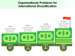 Organizational Problems For International Diversification Ppt PowerPoint Presentation Gallery Summary PDF