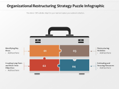 Organizational Restructuring Strategy Puzzle Infographic Ppt PowerPoint Presentation Ideas Good PDF