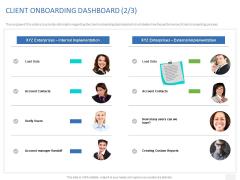 Organizational Socialization CLIENT ONBOARDING DASHBOARD Internal Ppt Ideas Maker PDF