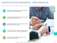 Organizational Socialization PAIN POINTS IN CLIENT ONBOARDING FIRMS PERSPECTIVE Background PDF