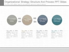 Organizational Strategy Structure And Process Ppt Slides