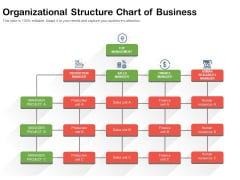 Organizational Structure Chart Of Business Ppt PowerPoint Presentation Infographics Example Topics PDF