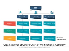Organizational Structure Chart Of Multinational Company Ppt PowerPoint Presentation Layouts Graphics Pictures PDF