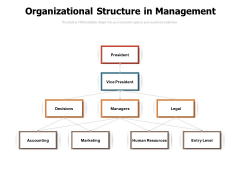 Organizational Structure In Management Ppt PowerPoint Presentation Infographics Example Topics