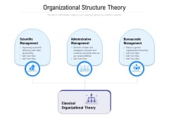 Organizational Structure Theory Ppt PowerPoint Presentation Portfolio Graphics Download PDF