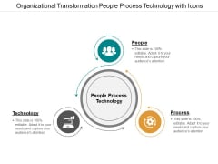Organizational Transformation People Process Technology With Icons Ppt PowerPoint Presentation Outline Graphic Tips