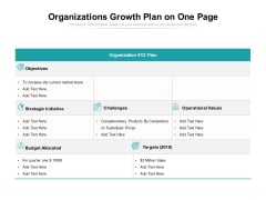 Organizations Growth Plan On One Page Ppt PowerPoint Presentation Gallery Structure PDF