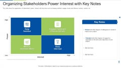 Organizing Stakeholders Power Interest With Key Notes Download PDF