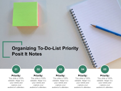 Organizing To Do List Priority Posit It Notes Ppt PowerPoint Presentation Inspiration Portrait