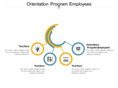 Orientation Program Employees Ppt PowerPoint Presentation Show Design Ideas Cpb