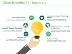 Other Benefits For Sponsors Ppt PowerPoint Presentation Model Visuals