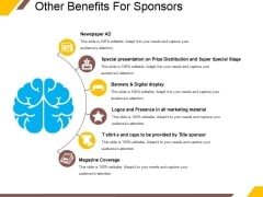 Other Benefits For Sponsors Ppt PowerPoint Presentation Slides Structure