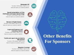 Other Benefits For Sponsors Template 2 Ppt PowerPoint Presentation Layouts Graphics