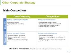 Other Corporate Strategy Ppt PowerPoint Presentation Pictures Backgrounds