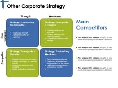 Other Corporate Strategy Template 1 Ppt PowerPoint Presentation Pictures Portfolio