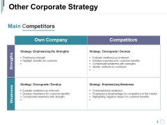 Other Corporate Strategy Template 1 Ppt PowerPoint Presentation Pictures Templates