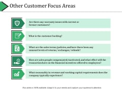 Other Customer Focus Areas Ppt PowerPoint Presentation Summary Format