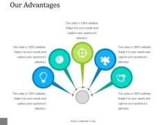 Our Advantages Template 1 Ppt PowerPoint Presentation Deck