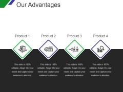 Our Advantages Template 1 Ppt PowerPoint Presentation Design Ideas