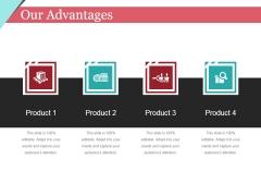Our Advantages Template 1 Ppt PowerPoint Presentation Portfolio Design Ideas