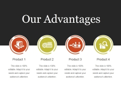 Our Advantages Template 1 Ppt PowerPoint Presentation Samples