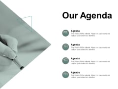 Our Agenda Business Management Ppt PowerPoint Presentation Summary Objects