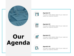 Our Agenda Checklist Ppt PowerPoint Presentation Pictures Gallery