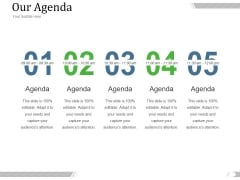 Our Agenda Ppt PowerPoint Presentation Design Templates