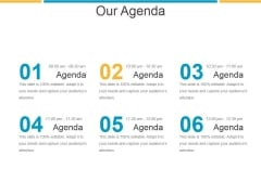 Our Agenda Ppt PowerPoint Presentation Designs Download