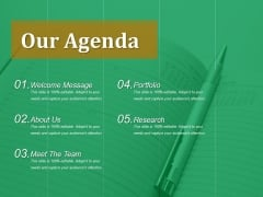 Our Agenda Ppt PowerPoint Presentation File Layouts