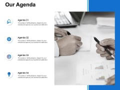 Our Agenda Ppt PowerPoint Presentation Gallery Show