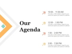 Our Agenda Ppt PowerPoint Presentation Infographic Template Example File