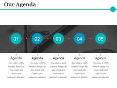 Our Agenda Ppt PowerPoint Presentation Model Guidelines