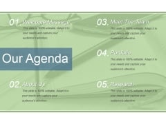 Our Agenda Ppt PowerPoint Presentation Show Shapes