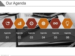 Our Agenda Ppt PowerPoint Presentation Slide Download