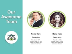 Our Awesome Team Introduction Ppt PowerPoint Presentation File Mockup