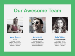 Our Awesome Team Introduction Ppt PowerPoint Presentation Outline Background Image