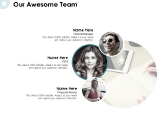 Our Awesome Team Ppt PowerPoint Presentation Pictures Deck