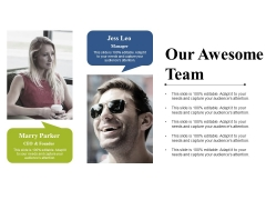 Our Awesome Team Ppt PowerPoint Presentation Portfolio Graphics Example