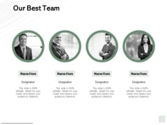Our Best Team Introduction Communication Ppt PowerPoint Presentation Pictures Templates