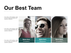 Our Best Team Ppt PowerPoint Presentation Design Ideas