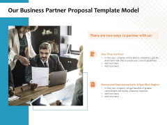 Our Business Partner Proposal Template Model Ppt PowerPoint Presentation Icon Examples
