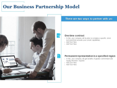 Our Business Partnership Model Ppt PowerPoint Presentation Slides Aids