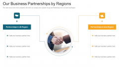 Our Business Partnerships By Regions Ppt Infographics Elements PDF