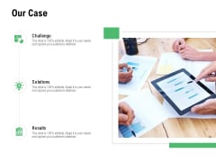Our Case Challenge Ppt PowerPoint Presentation Inspiration Professional